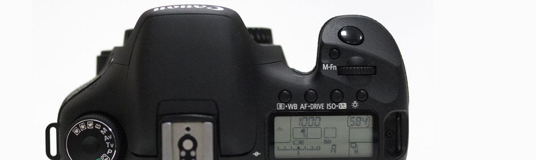 Canon 7D bovenkant